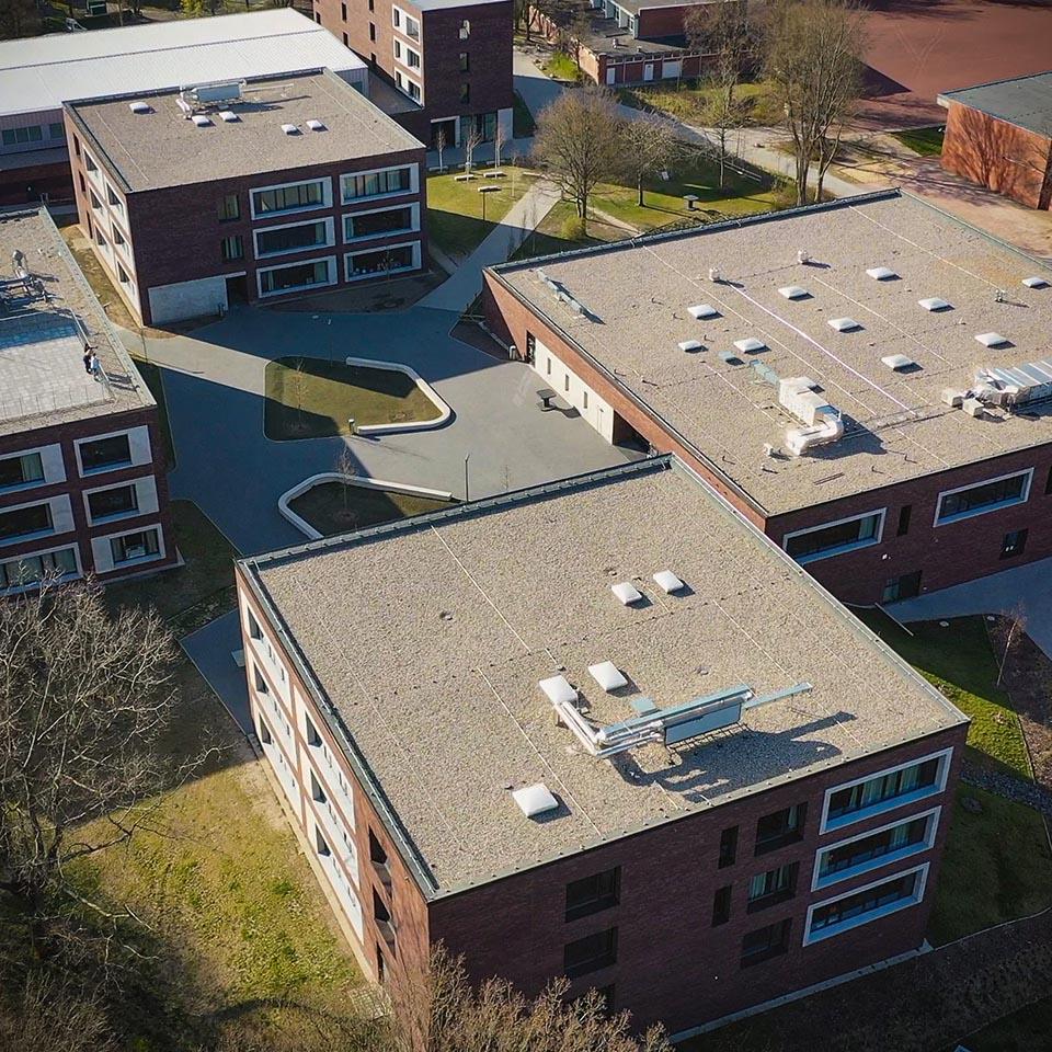 Luftbild der Lessing-Stadtteilschule
